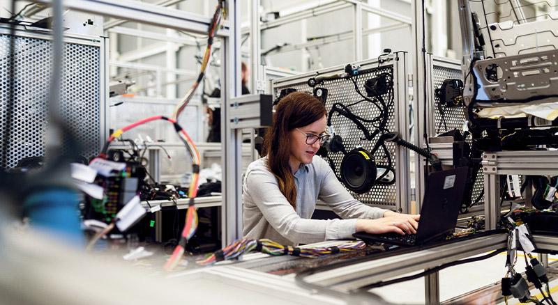Woman at Work at Computer